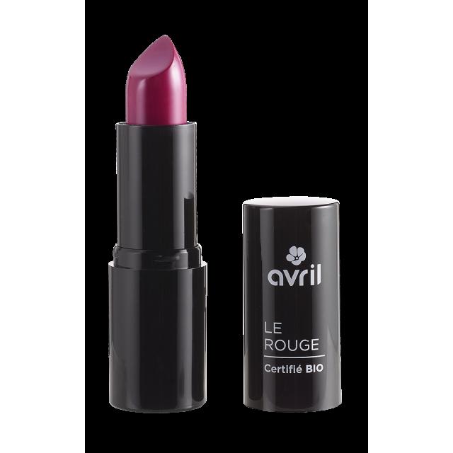 Rouge à lèvres framboise n°601 certifié BIO, Avril