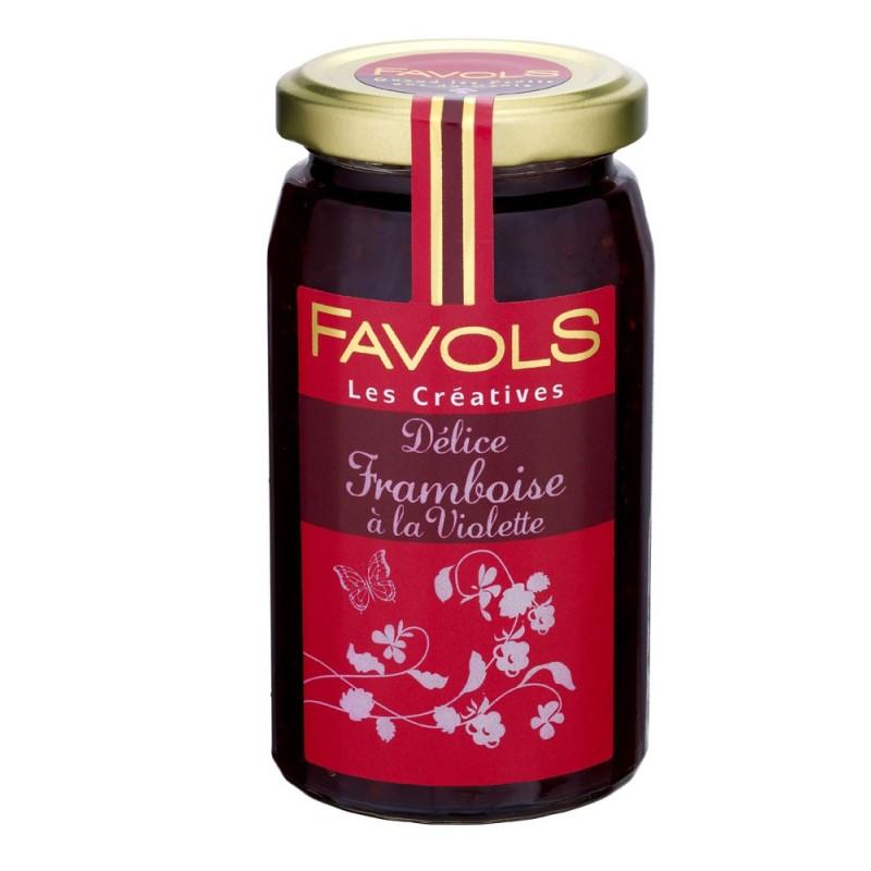 Confiture de framboise à la violette, Favols (270 g)