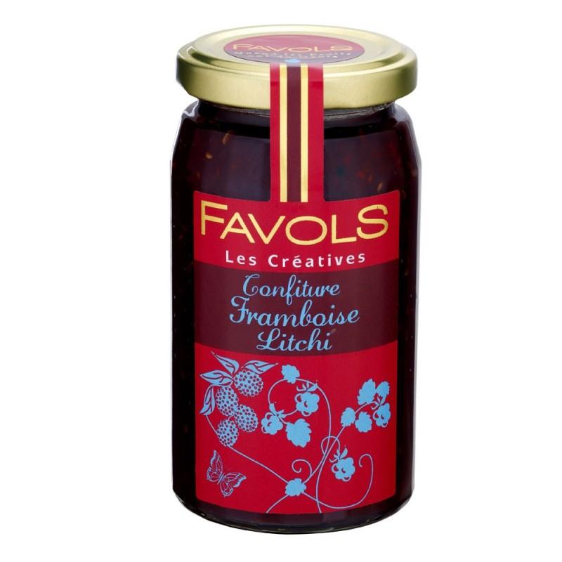 Confiture de framboise et litchi, Favols (270 g)