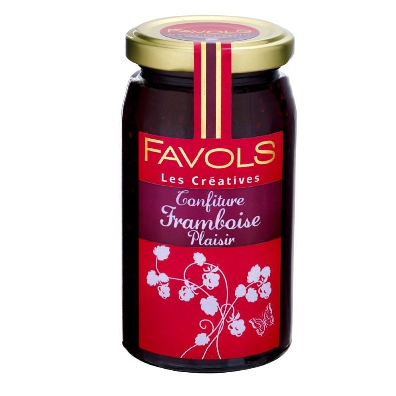 Confiture de framboise plaisir, Favols (250 g)