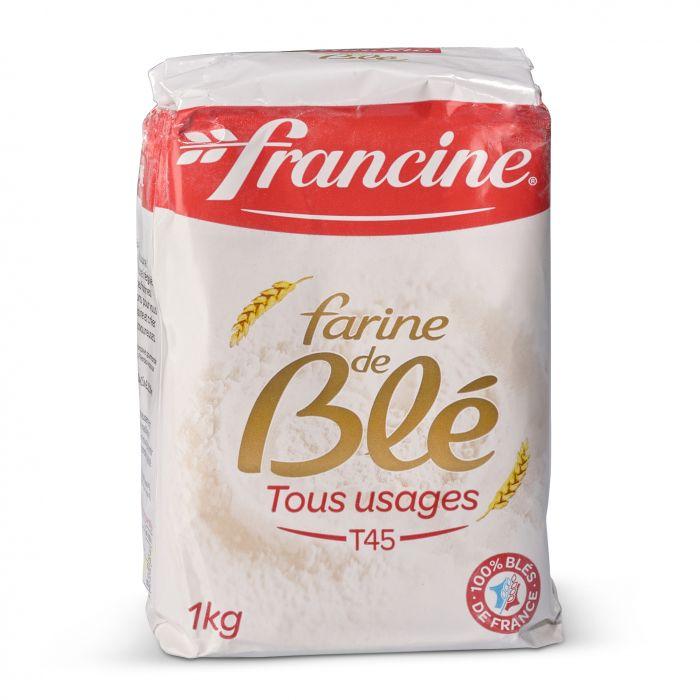 Farine de blé T45 Tous usages, Francine (1 kg)