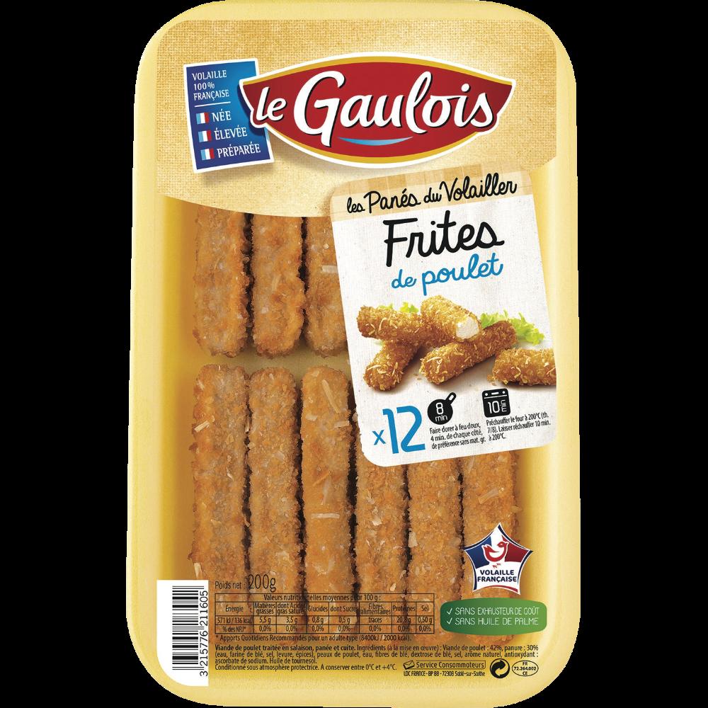 Frites de poulet panées, Le Gaulois (x 12, 200 g)