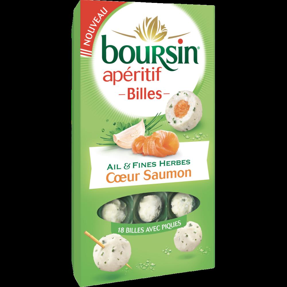 Fromage billes ail & fines herbes coeur de saumon, Boursin (75 g)