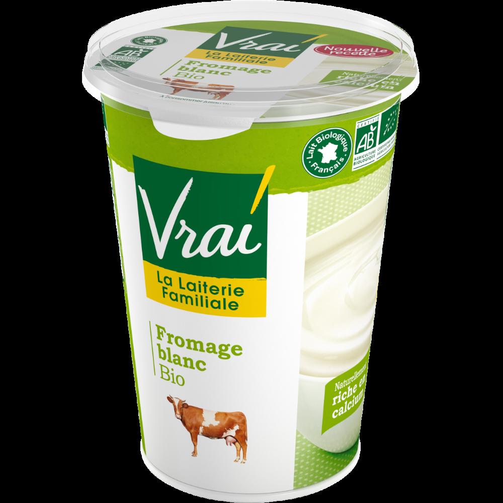 Fromage blanc nature  3,6 % de MG BIO, Vrai (500 g)