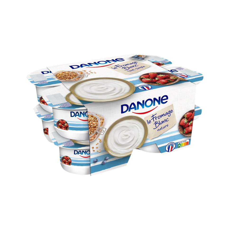 Fromage blanc nature 3,2% MG, Danone (8 x 100 g)