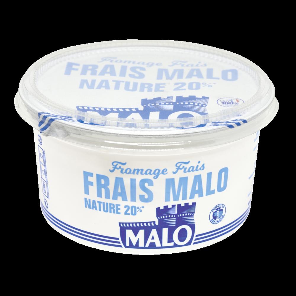 Fromage frais nature 20% de MG, Malo (500 g)