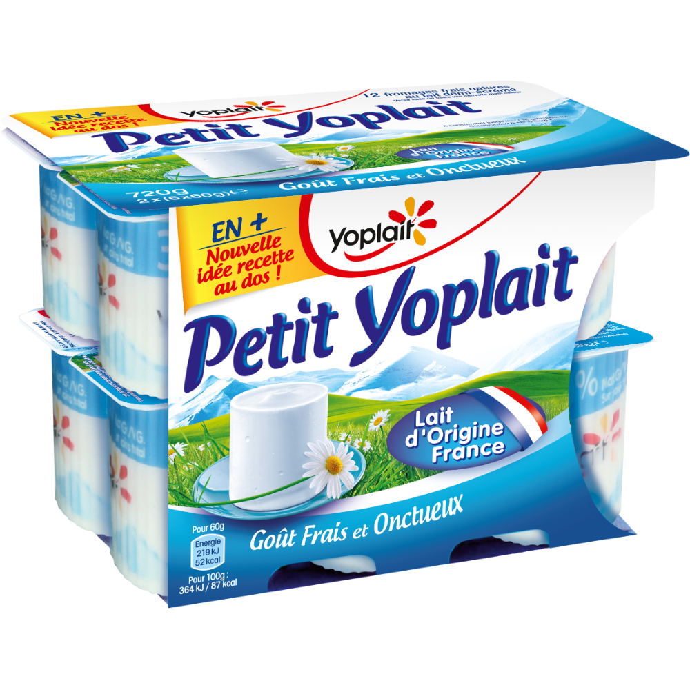 Petit Yoplait nature 3,8% MG (12 x 60 g)