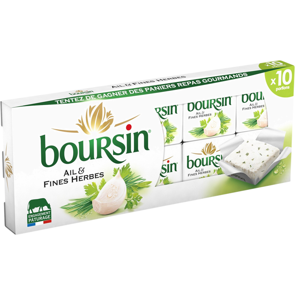 Boursin Ail & Fines herbes (x 10, 160 g)