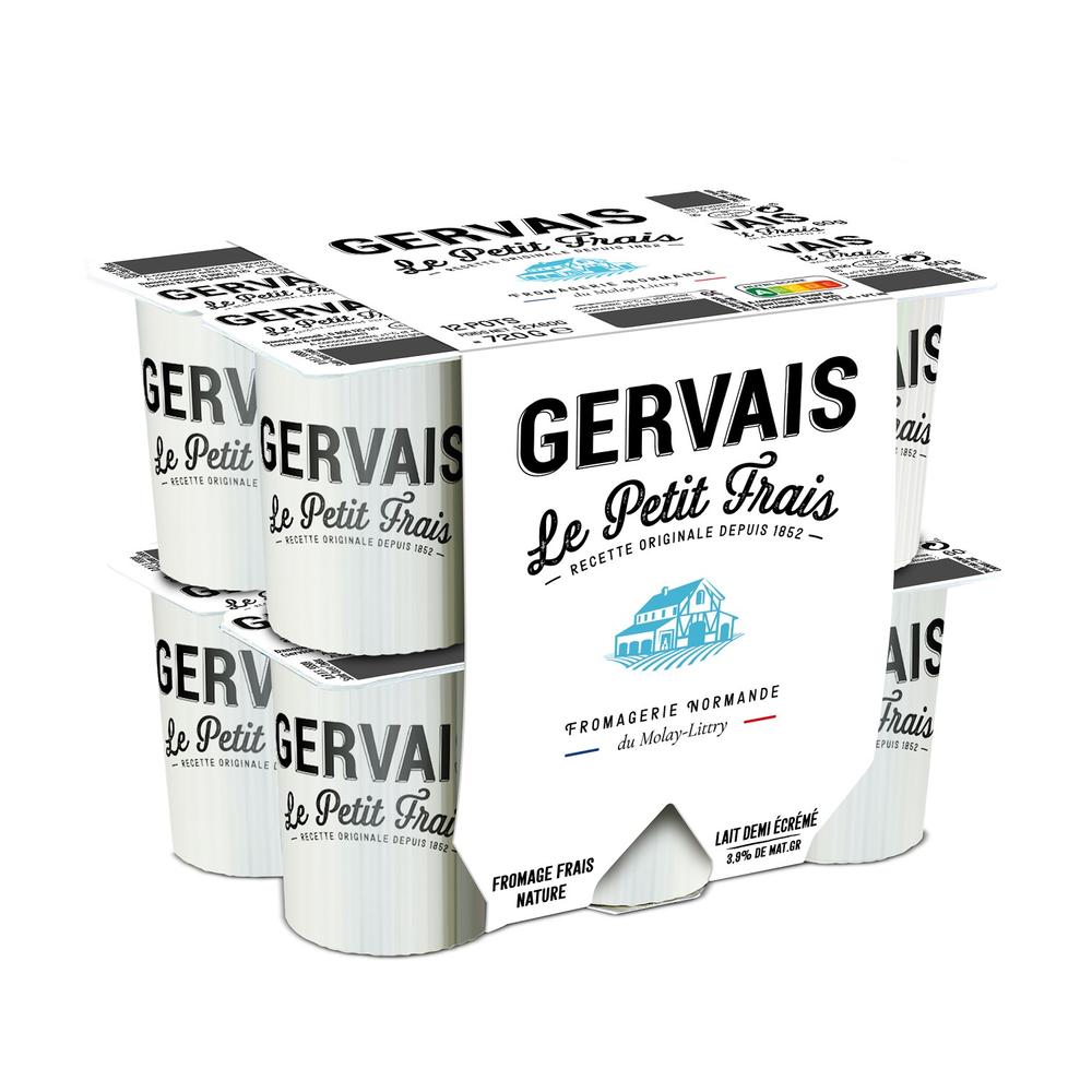Fromage nature Le Petit Frais, Gervais (12 x 60 g)
