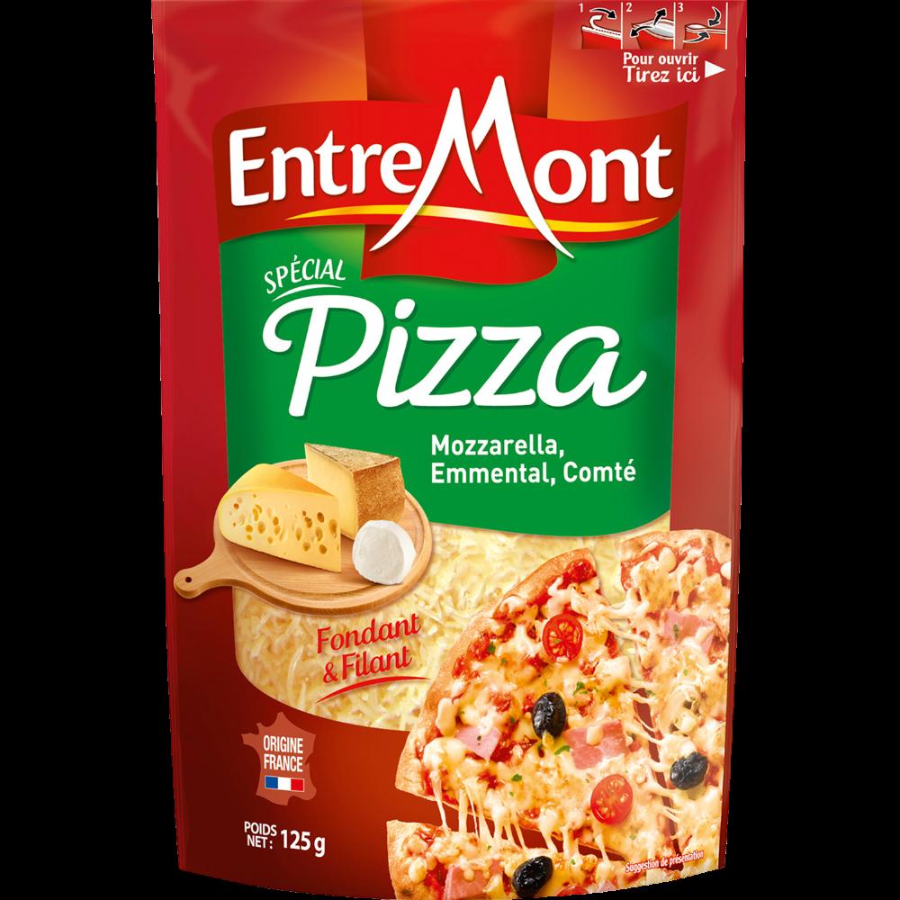 Fromage râpé spécial pizza au lait pasteurisé, Entremont (125 g)
