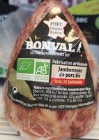 Jambonneau de porc BIO, Bonval (250 g)