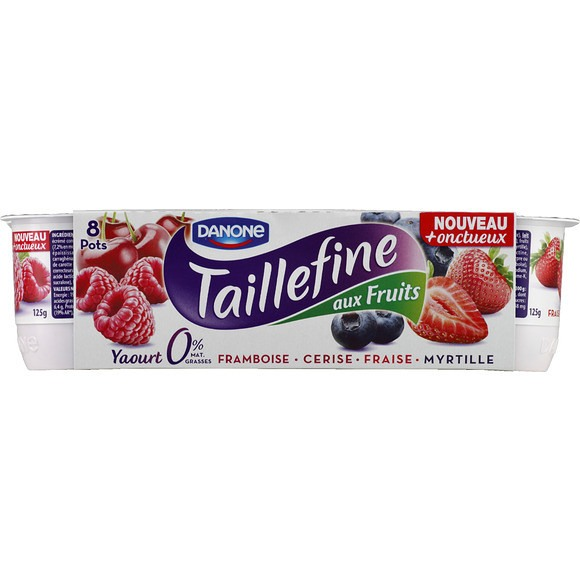Yaourt Taillefine Fruits Rouges, Danone (8 x 125 g)
