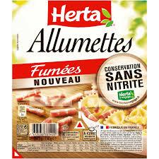 Lardons allumettes fumés sans nitrite, Herta (2 x 75 g)