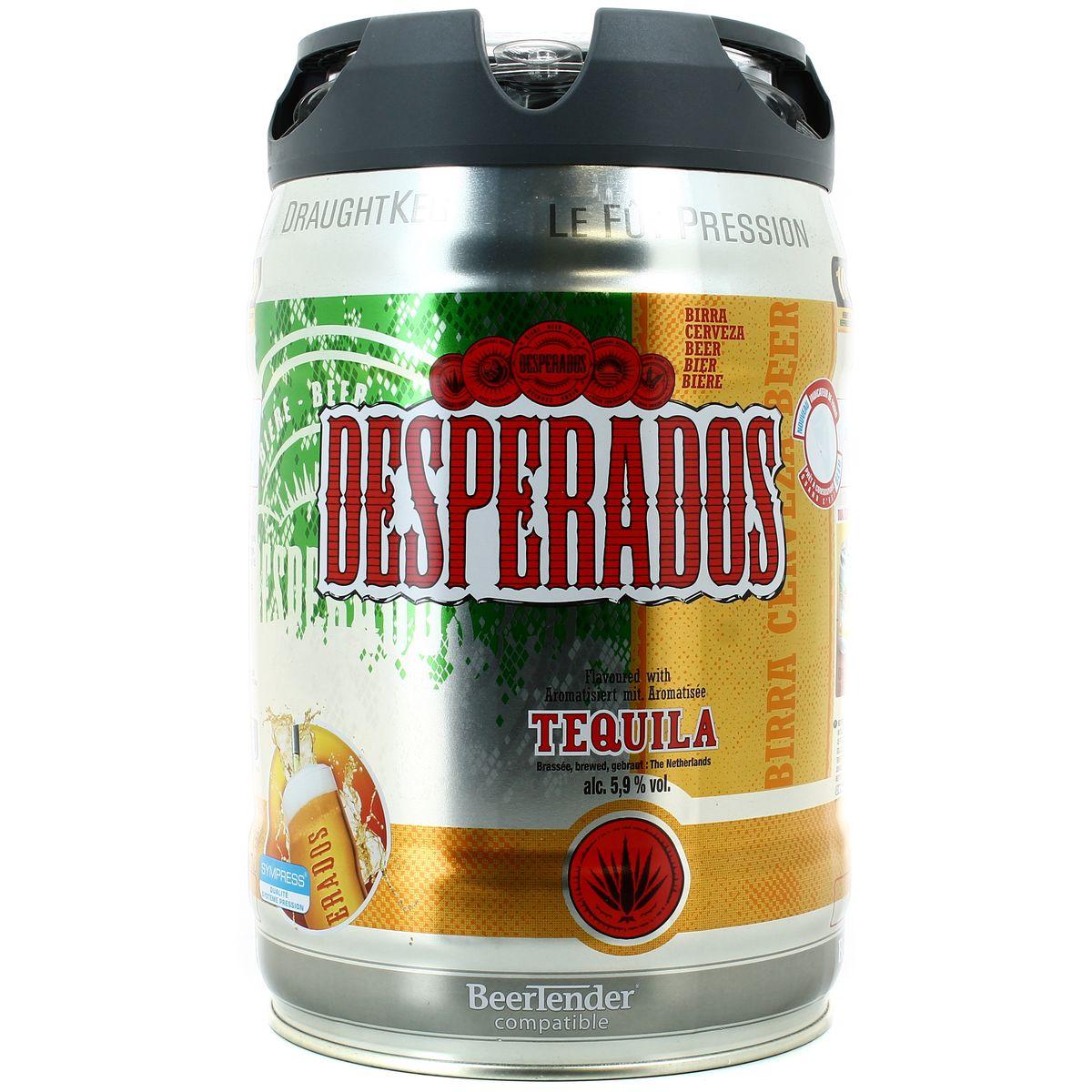 Mini-fût Desperados livré frais et prêt à servir (5 L)