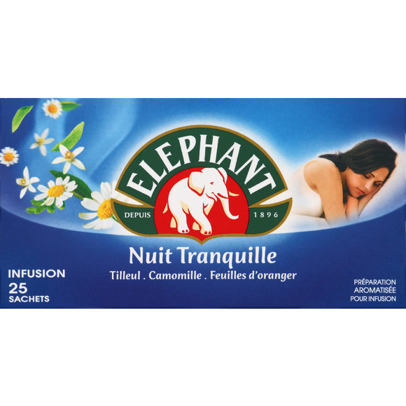 Infusion nuit tranquille, Elephant (25 sachets)