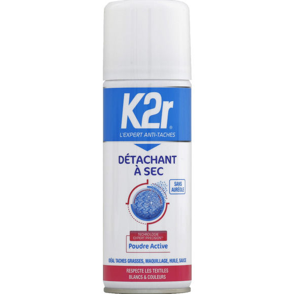 Détachant à sec en aérosol, K2R (200 ml)