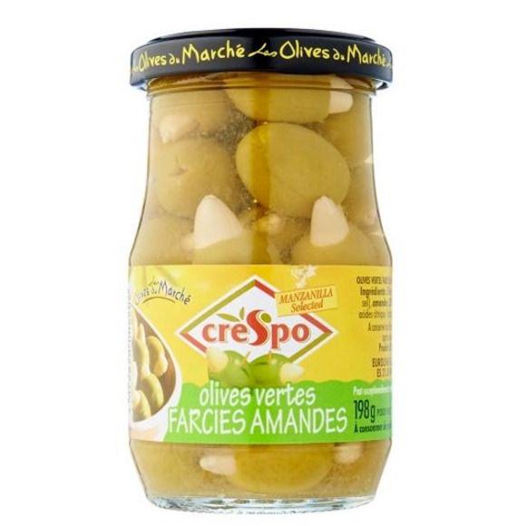Olives vertes farcies aux amandes, Crespo (21 cl)