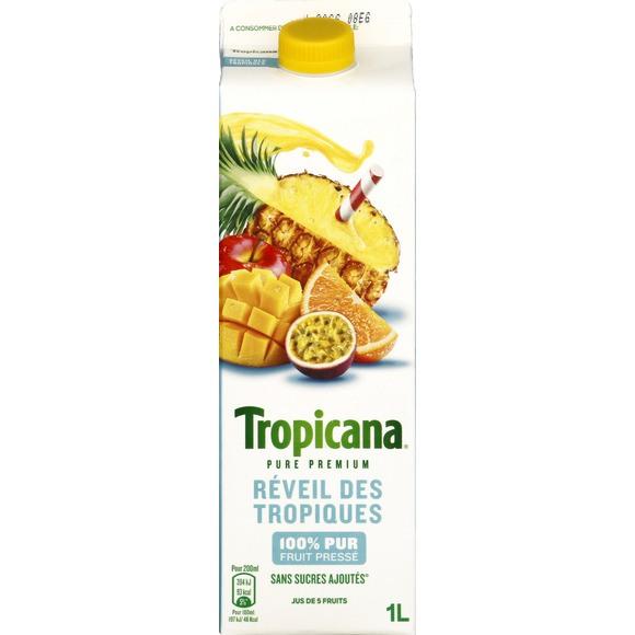 Jus réveil des tropiques frais, Tropicana (1 L)