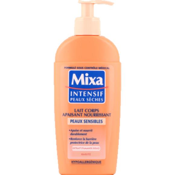 Lait corps apaisant peaux sèches, Mixa (250 ml)