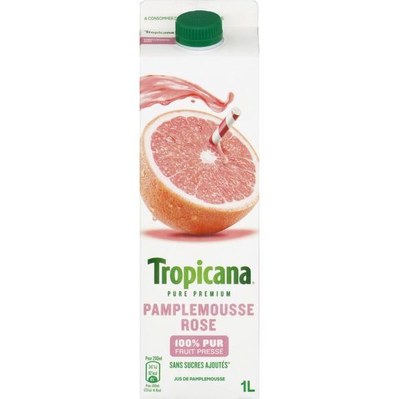 Jus de pamplemousse rose frais, Tropicana (1 L)