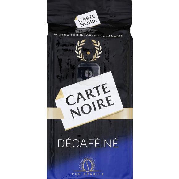 Café moulu pur arabica décaféiné, Carte Noire (250 g)