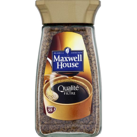 Café soluble qualité filtre, Maxwell House (100 g)