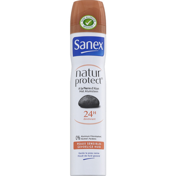 Déodorant spray nature protect' Peaux Sensibles, Sanex (200 ml)