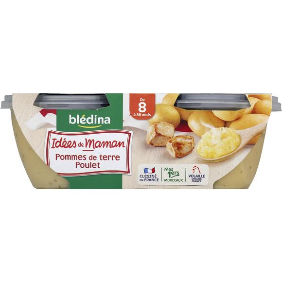 Bols pommes de terre, poulet Idées de Maman - dès 8 mois, Blédina (2 x 200 g)