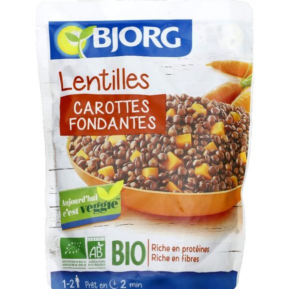 Lentilles, Carotte fondantes BIO, Bjorg (250 g)