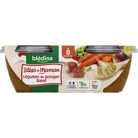 Bols de légumes du potager et boeuf - 8 mois, Blédina (2 x 200 g)