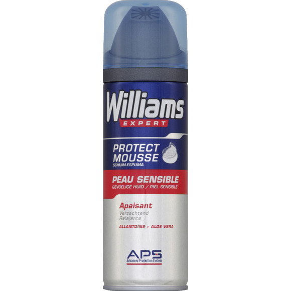 Mousse à raser pour peaux sensibles, Williams (200 ml)