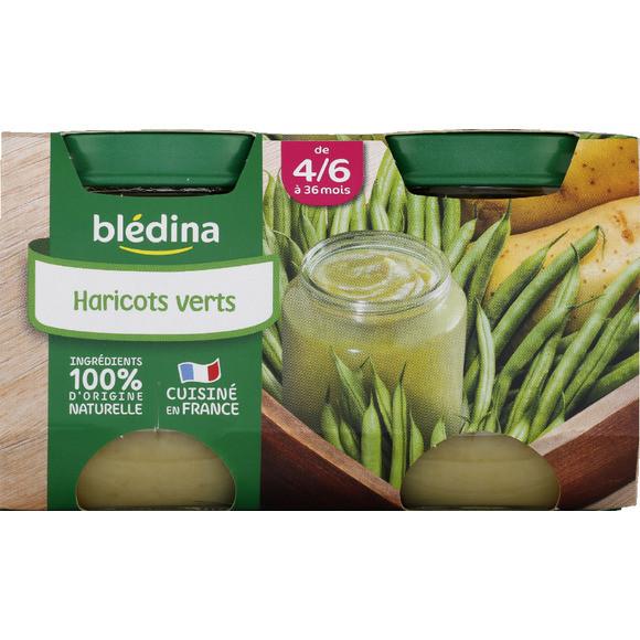 Petit pot haricots verts - 4/6 mois, Blédina (2 x 130 g)
