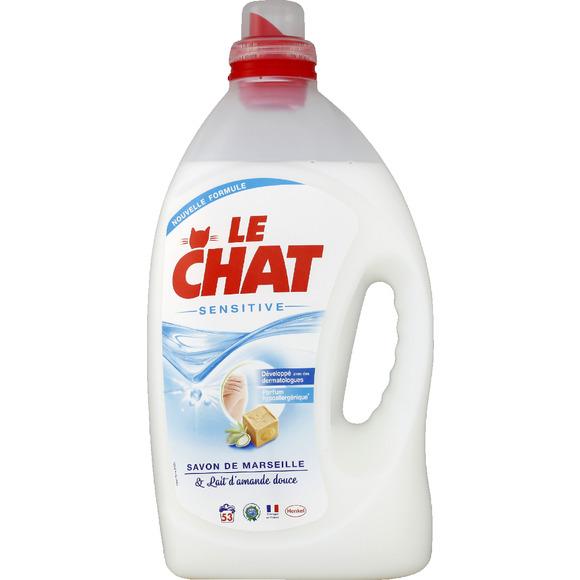 Lessive liquide sensitive au savon de Marseille, Le Chat (2 L)