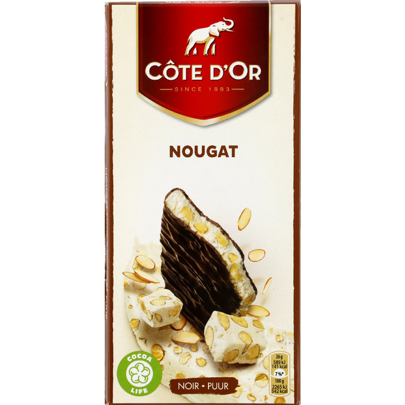 Chocolat fourré au nougat, Côte d'Or (130 g)