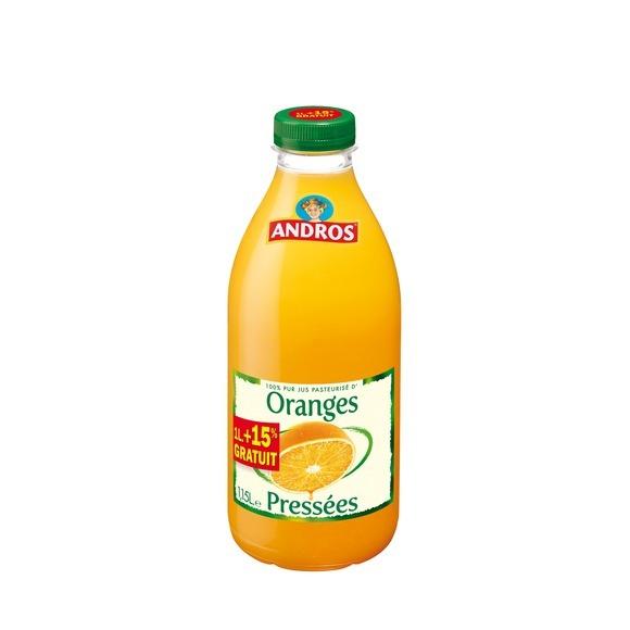 Jus d'orange pressées frais, Andros (1 L)