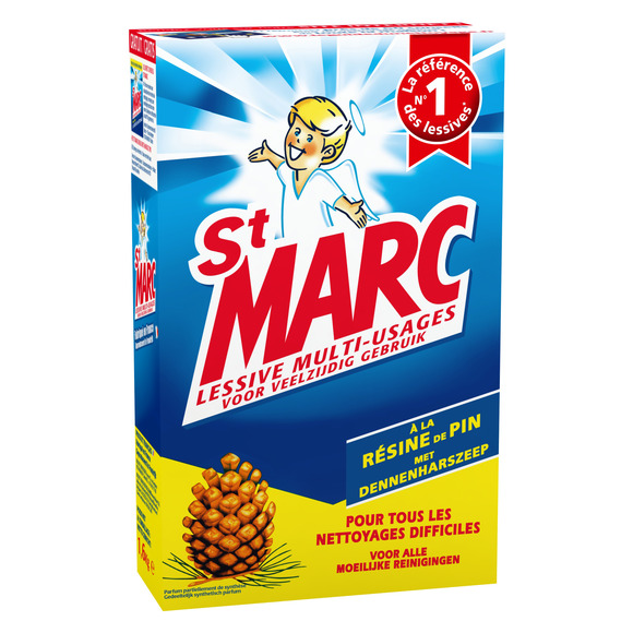 Lessive multi-usages à la résine de pin, St Marc (1,6 kg)