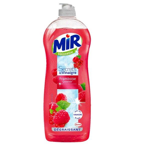 Liquide vaisselle à la framboise et groseille, Mir (750 ml)
