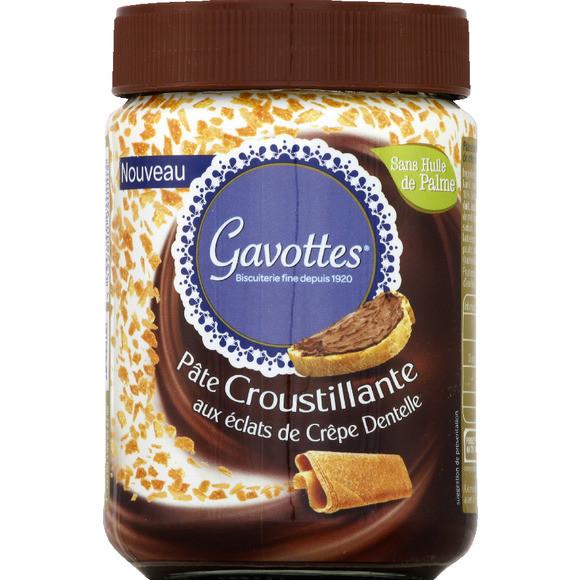 Pâte à tartiner aux éclats de crêpes dentelles, Gavottes (350 g)