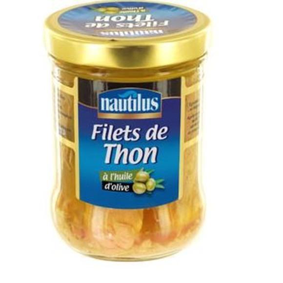 Filet de thon à l'huile d'olive, Nautilus (135 g)