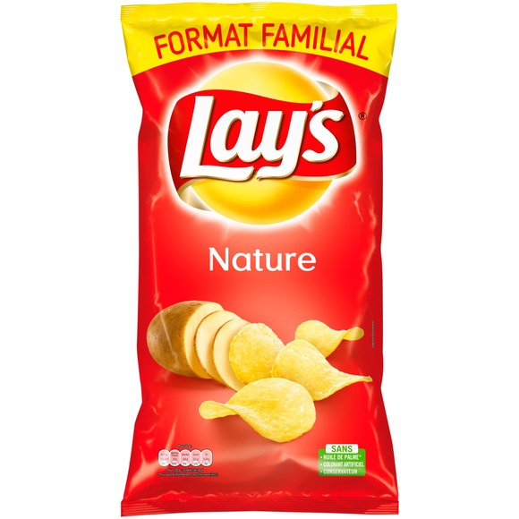 Chips nature, Lay's (300 g, format familial)