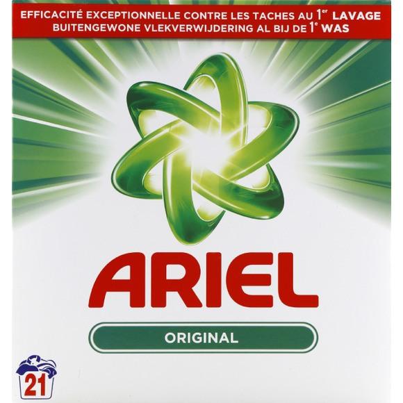 Lessive en poudre original, Ariel (21 doses soit 1,365 kg)