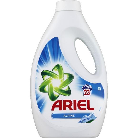 Lessive liquide fraîcheur alpine 23 doses, Ariel (1.26 L)
