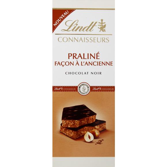 Chocolat noir praliné à l'ancienne, Lindt (120 g)