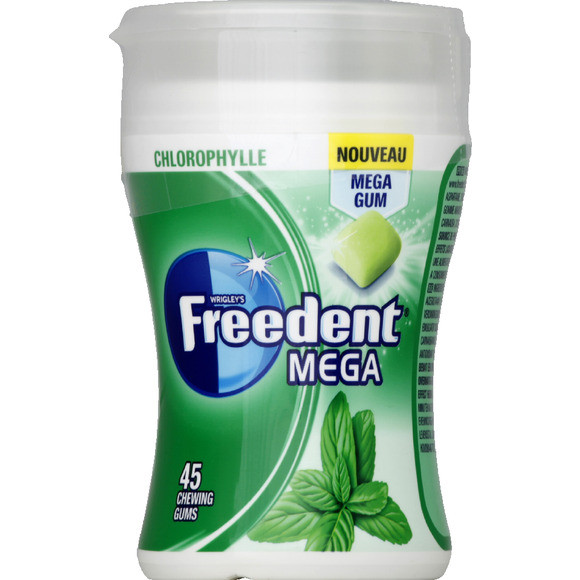 Chewing-gum Chlorophyle, Freedent White (45 dragées)
