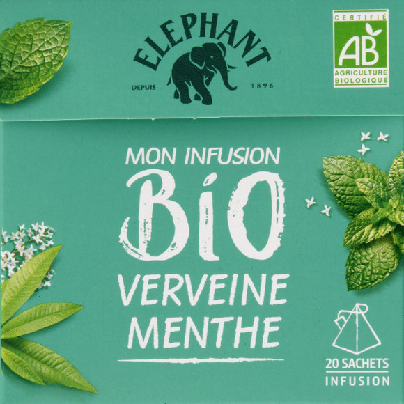 Infusion verveine menthe BIO Elephant (x 25)
