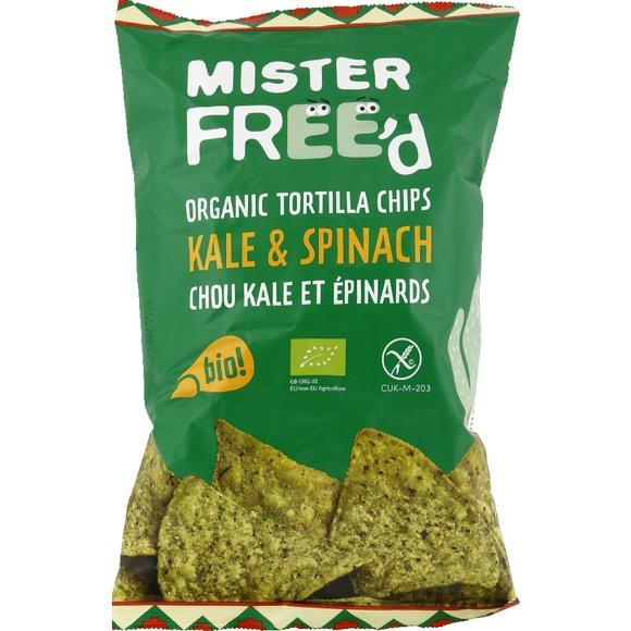 Tortilla chips au kale et aux épinards BIO, Mister Free'd (150 g)