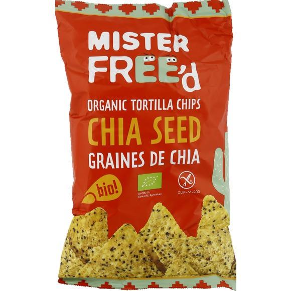 Tortilla chips aux graines de chia BIO, Mister Free'd (150 g)