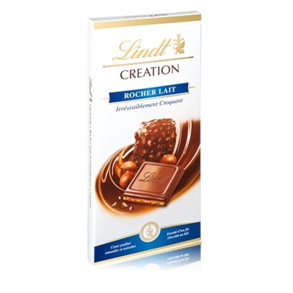 Chocolat au lait rocher, Lindt (150 g)