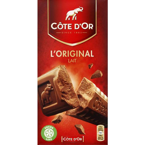 Chocolat au lait extra fin L'original, Côte d'Or (200 g)