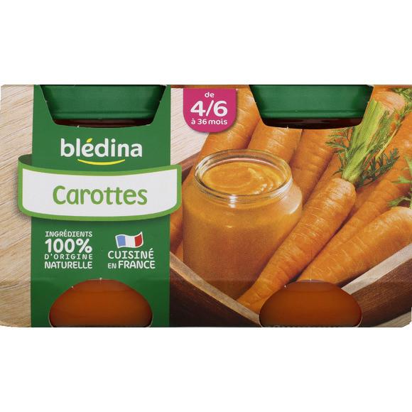 Petit pot carottes - 4/6 mois, Blédina (2 x 130 g)
